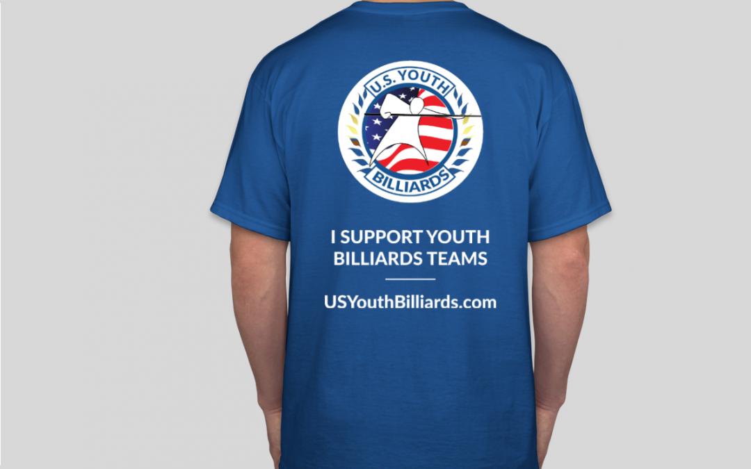 U.S. Youth Billiards Logo Shirt Back