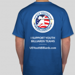 U.S. Youth Billiards Logo Shirt Back