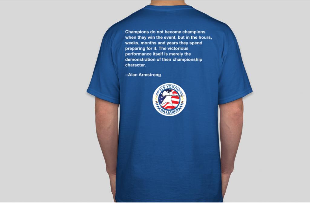 U.S. Youth Billiards Champions Shirt Back