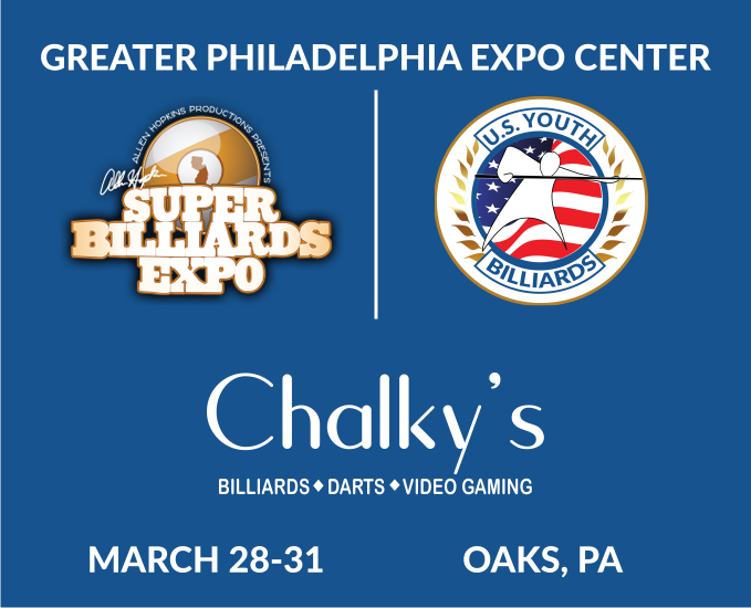 US Youth Billiards - Chalkys - Super Billiards Expo 2019 Logo
